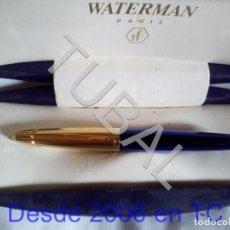 Plumas estilográficas antiguas: TUBAL ESTILOGRAFICA WATERMAN EDSON SAPPHIRE BLUE PEN-M 18K GOLD PLUMA TODO LO QUE VES EN LAS FOTOS. Lote 169884400