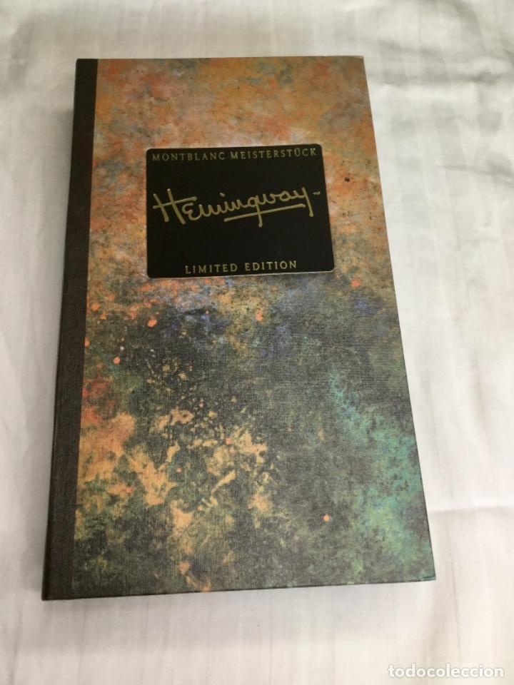 Plumas estilográficas antiguas: Estilográfica Hemingway. Mont Blanc. Año 1992. NUEVA SIN USAR - Foto 6 - 170091468