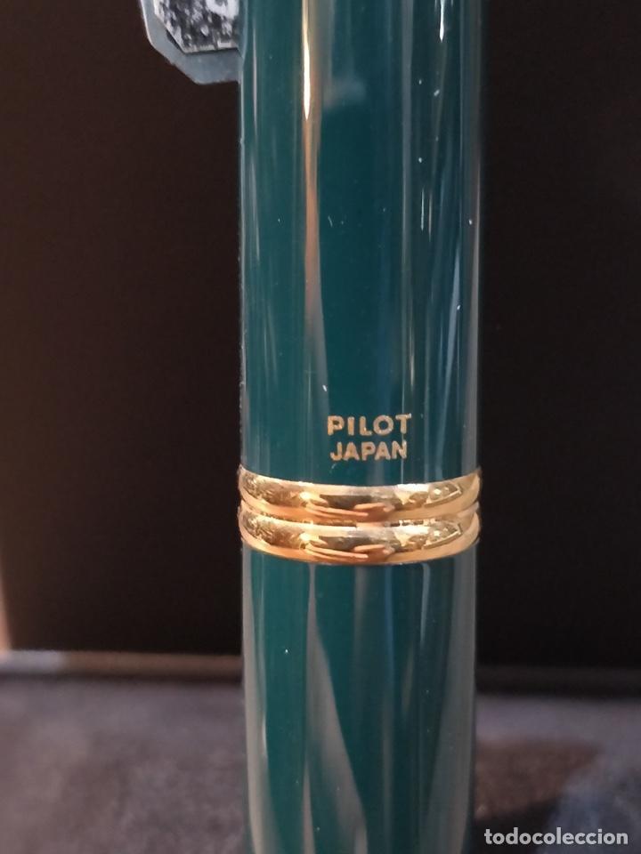 Plumas estilográficas antiguas: Pluma Estilográfica PILOT Capless laca verde, plumín (F) oro 18K y adornos bañados en oro. Sin uso - Foto 4 - 171099094