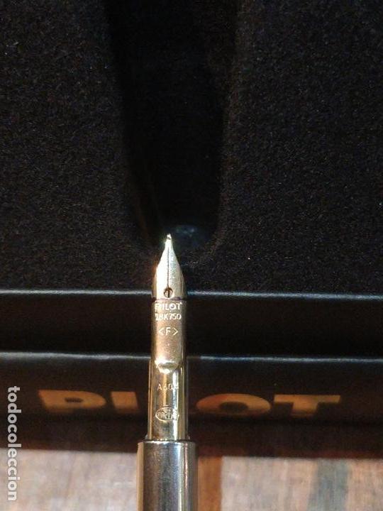 Plumas estilográficas antiguas: Pluma Estilográfica PILOT Capless laca verde, plumín (F) oro 18K y adornos bañados en oro. Sin uso - Foto 8 - 171099094