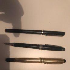 Plumas estilográficas antiguas: MONTBLANC MEISTERSTUCK PLUMAS ORO 14 BOLIGRAFOS. Lote 171210322