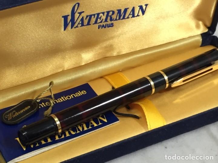 Plumas estilográficas antiguas: Pluma Waterman Paris en estuche de terciopelo, buen estado - Foto 2 - 174087387