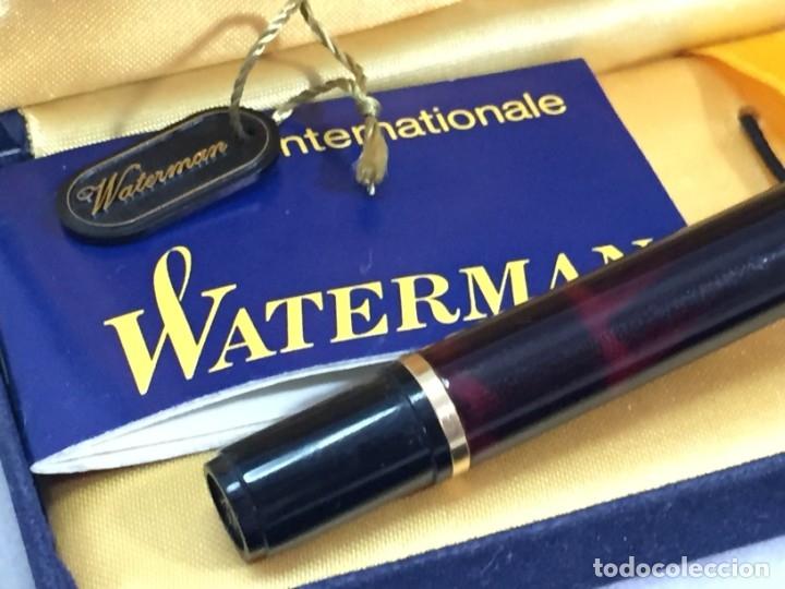 Plumas estilográficas antiguas: Pluma Waterman Paris en estuche de terciopelo, buen estado - Foto 4 - 174087387