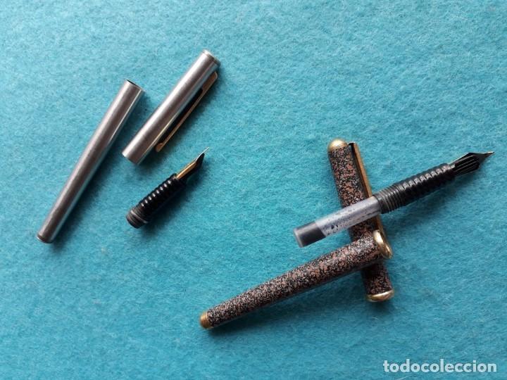 Plumas estilográficas antiguas: Lote de 2 plumas antiguas marca Inoxcrom - Foto 4 - 174585833