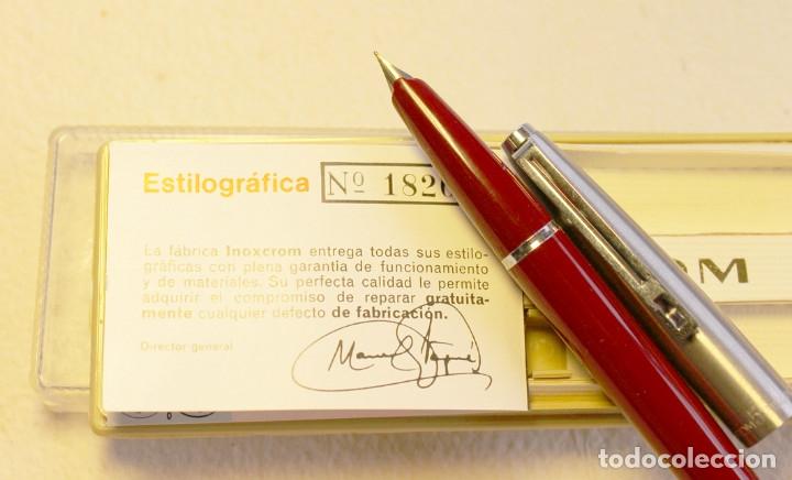 Plumas estilográficas antiguas: ESTILOGRAFICA INOXCROM 55. NUEVA. - Foto 3 - 175147153