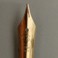 Plumas estilográficas antiguas: ANTIGUO PLUMIN ORO MONTBLANC 14K 585. Lote 175267634