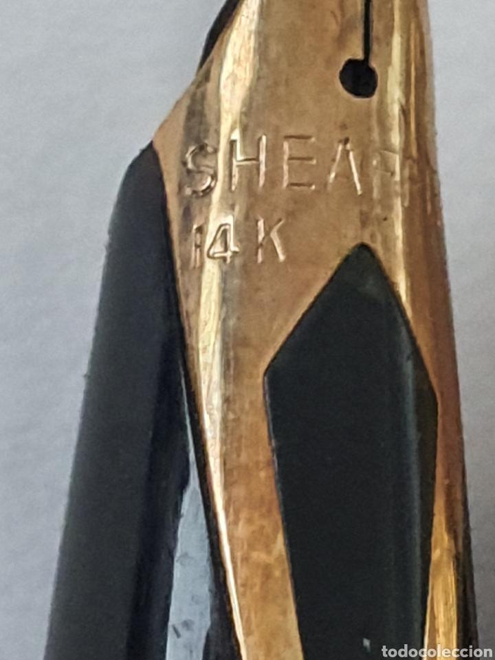 Plumas estilográficas antiguas: Preciosa pluma SHEAFER con plumin de oro de 14 kt. - Foto 3 - 175411928