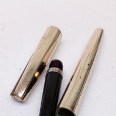 Plumas estilográficas antiguas: PLUMA CUERPO LACADO DORADO. Lote 175757075