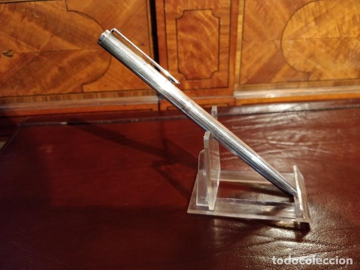 Plumas estilográficas antiguas: Pluma estilográfica de plata Paolo Bertoni. 13,5 CMS. plumín oro 14K - Foto 2 - 46409400
