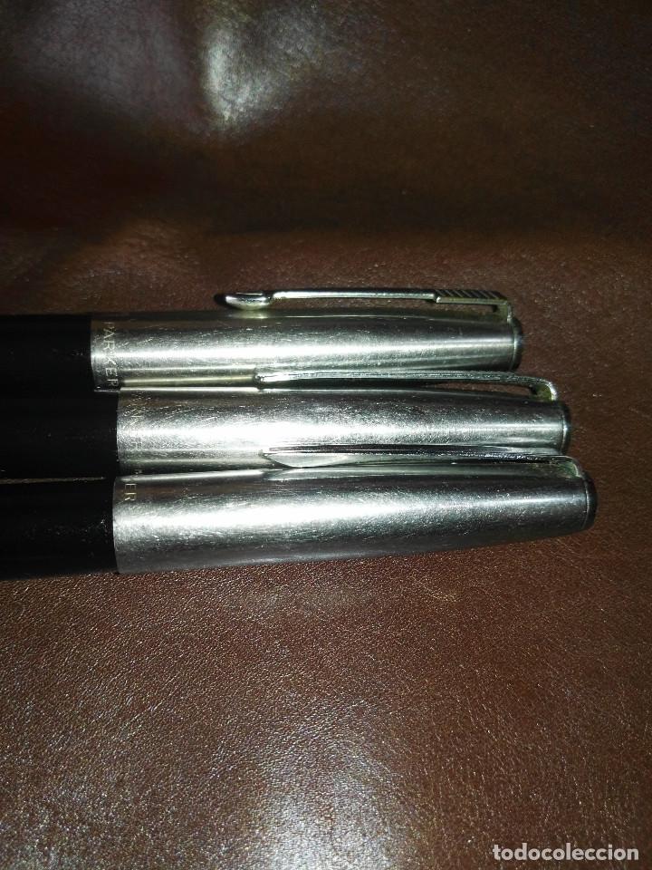 Plumas estilográficas antiguas: Lote de tres variantes Parker 21 - Foto 2 - 176572952