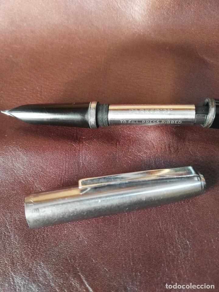 Plumas estilográficas antiguas: Lote de tres variantes Parker 21 - Foto 9 - 176572952