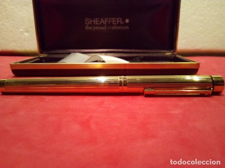 Plumas estilográficas antiguas: Pluma Sheaffer Targa 1005 Fine chapa oro - Foto 6 - 177711395
