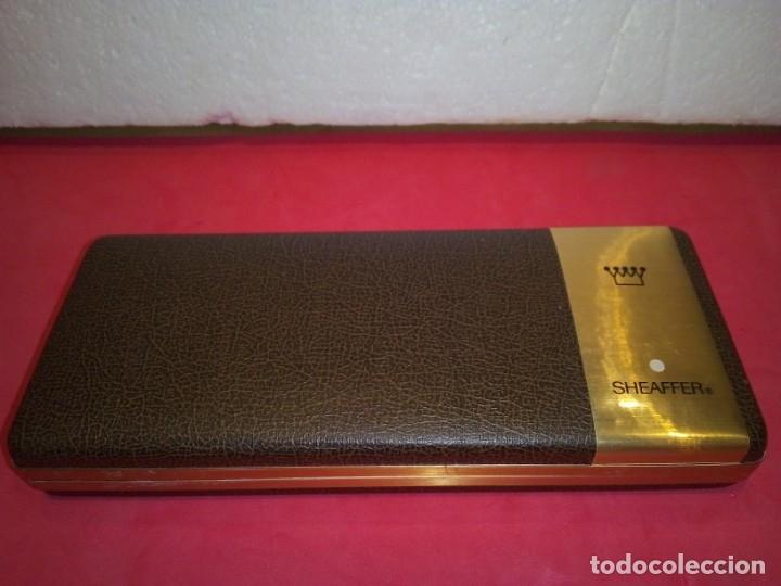 Plumas estilográficas antiguas: Pluma Sheaffer Targa 1005 Fine chapa oro - Foto 9 - 177711395