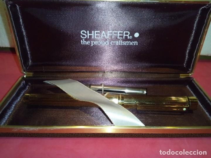 Plumas estilográficas antiguas: Pluma Sheaffer Targa 1005 Fine chapa oro - Foto 10 - 177711395