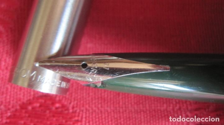 Plumas estilográficas antiguas: ANTIGUA Y ORIGINAL PLUMA INOXCROM 77 PLUMIN LARGO. VERDE - Foto 5 - 177794102