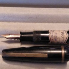 Plumas estilográficas antiguas: ESTILOGRAFICA PLUMIN WARRANTED 14 CTS 585 SELLO ESTILOGRAFICAS MEDINA ADUANA NUEVA A ESTRENAR. Lote 177838113