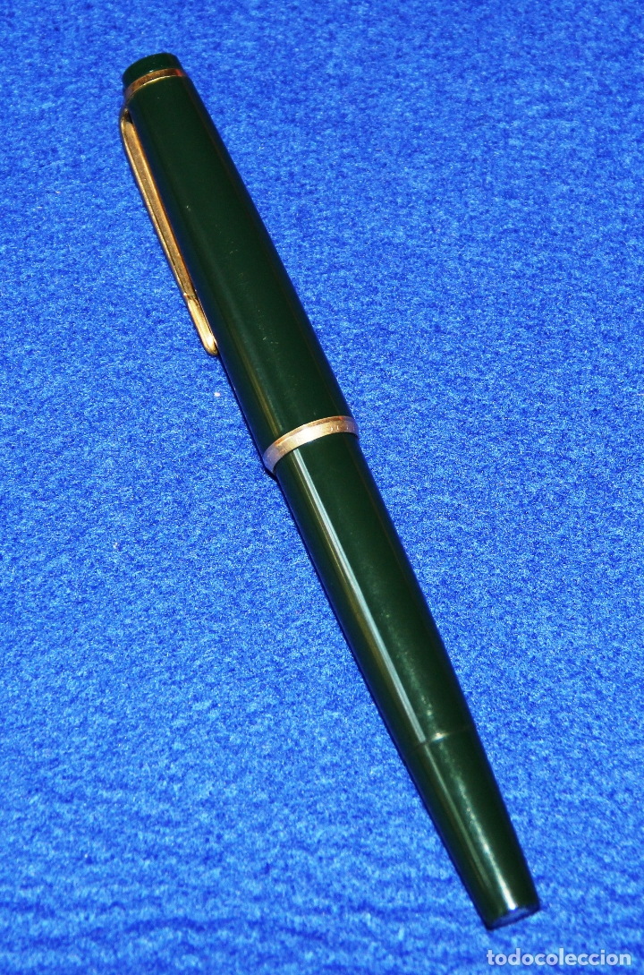 Plumas estilográficas antiguas: PLUMA ESTILOGRAFICA MONTBLANC 32 VERDE FOUNTAIN PEN - Foto 3 - 178328501