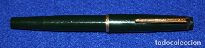 Plumas estilográficas antiguas: PLUMA ESTILOGRAFICA MONTBLANC 32 VERDE FOUNTAIN PEN - Foto 4 - 178328501