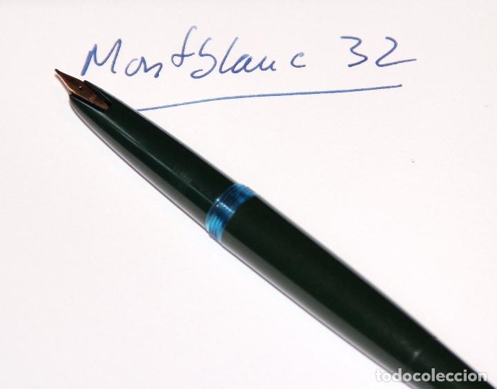 Plumas estilográficas antiguas: PLUMA ESTILOGRAFICA MONTBLANC 32 VERDE FOUNTAIN PEN - Foto 10 - 178328501