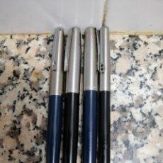 Plumas estilográficas antiguas: 4 ANTIGUAS PLUMAS INOXCROM. Lote 179180400
