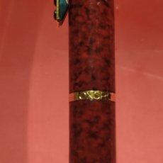 Plumas estilográficas antiguas: PLUMA INOXCROM LACADA EN BURDEOS MÁRMOL. Lote 180897865