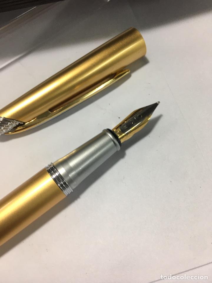 Plumas estilográficas antiguas: Pluma Fuliwen con Adaptador de tinta dorada - Foto 2 - 183306137