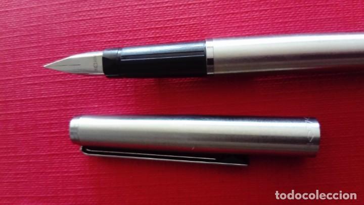 Plumas estilográficas antiguas: Pluma estilográfica Inoxcrom acero inox - Foto 3 - 183456273
