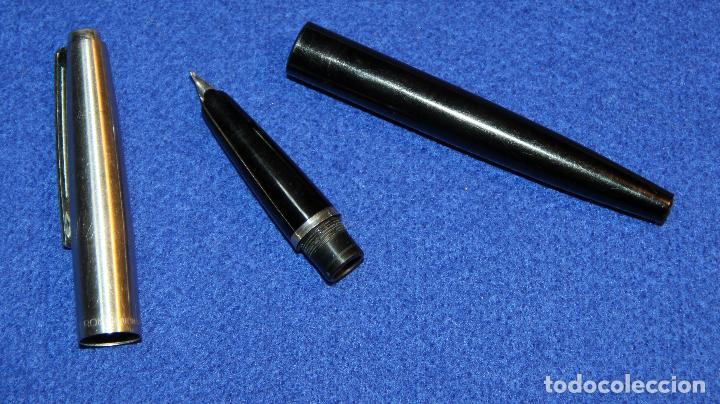 Plumas estilográficas antiguas: ANTIGUA PLUMA ESTILOGRAFICA INOXCROM 55 MODELO ULTIMO - Foto 5 - 183584726