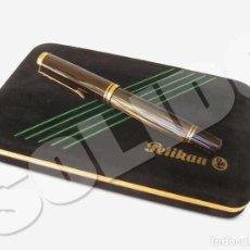 Plumas estilográficas antiguas: PLUMA PELIKAN FOUNTAIN PEN M800 BROWN STRIPED TORTOISE SHELL EXPORT SPANISH MARKET SPECIAL EDITION. Lote 184398138