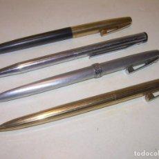 Plumas estilográficas antiguas: LOTE DE CUATRO BOLIGRAFOS SHEAFFERS.. Lote 184561851