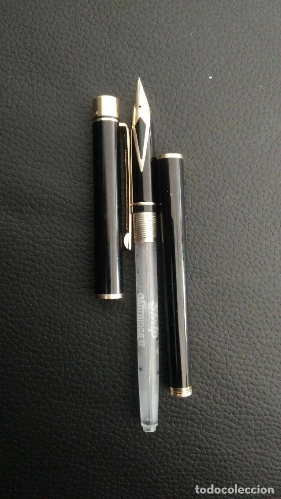 Plumas estilográficas antiguas: Pluma estilográfica Sheaffer plumin oro 14 quilates - Foto 2 - 185689705