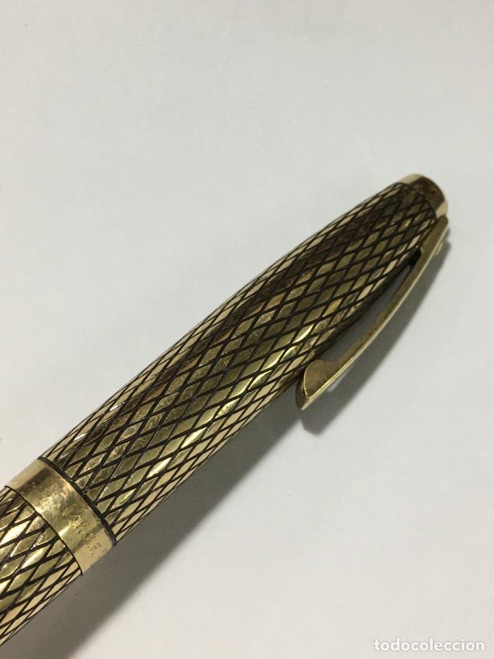 Plumas estilográficas antiguas: pluma sheaffer U.S.A. 14k G.F. Casing corona mitad s XX plumin 14 kl oro con adaptador de tinta - Foto 4 - 185692345