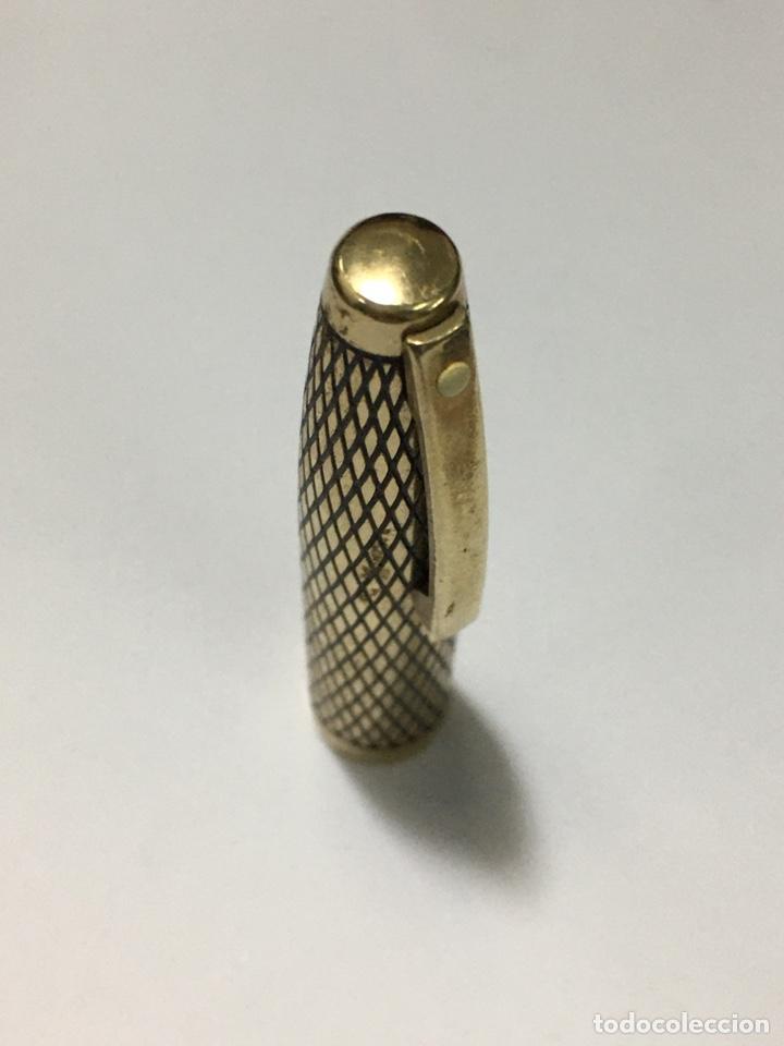 Plumas estilográficas antiguas: pluma sheaffer U.S.A. 14k G.F. Casing corona mitad s XX plumin 14 kl oro con adaptador de tinta - Foto 5 - 185692345