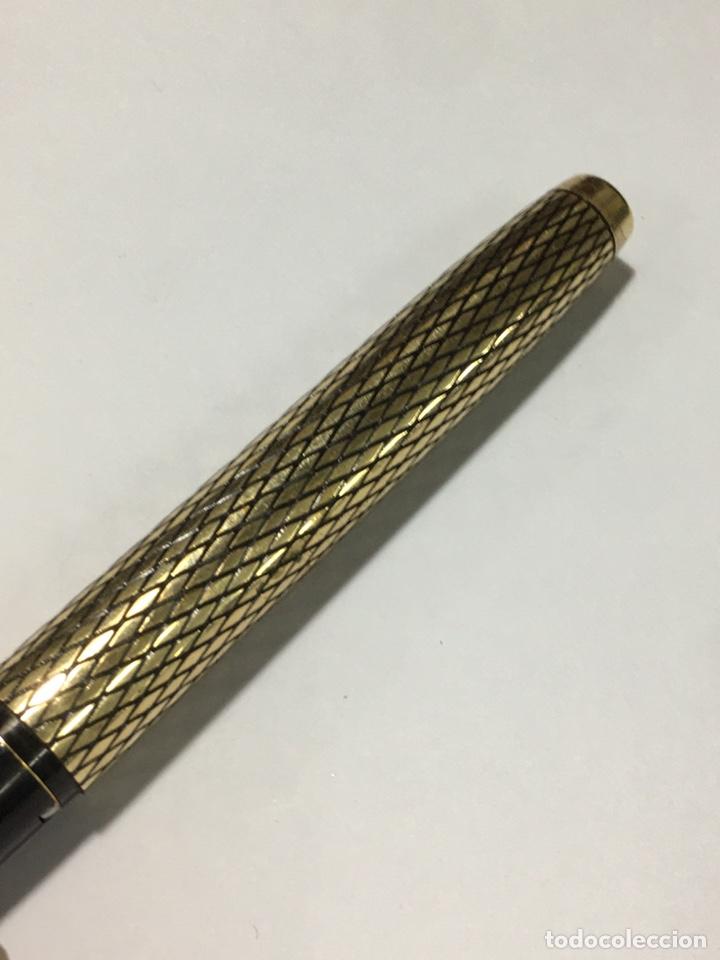 Plumas estilográficas antiguas: pluma sheaffer U.S.A. 14k G.F. Casing corona mitad s XX plumin 14 kl oro con adaptador de tinta - Foto 8 - 185692345