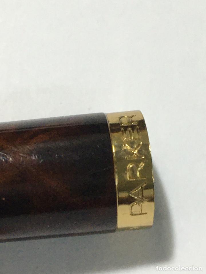 Plumas estilográficas antiguas: Pluma Parker 360 g marmolada y plumin oro con adaptador de tinta - Foto 13 - 185693063