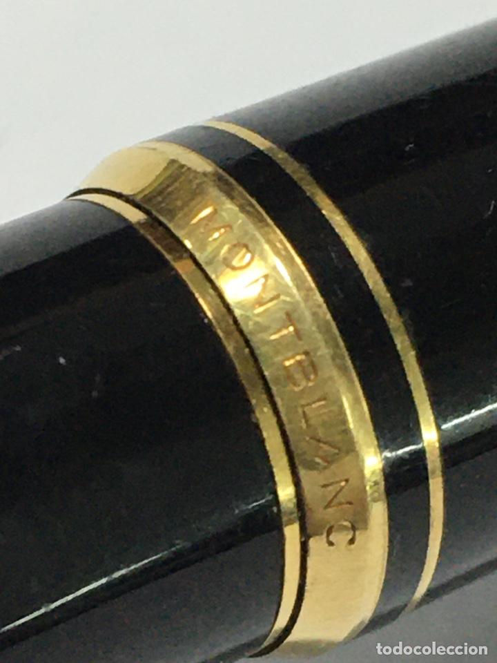 Plumas estilográficas antiguas: Pluma Montblanc Germany plumin oro 585 milésimas lacado negro - Foto 5 - 185695091