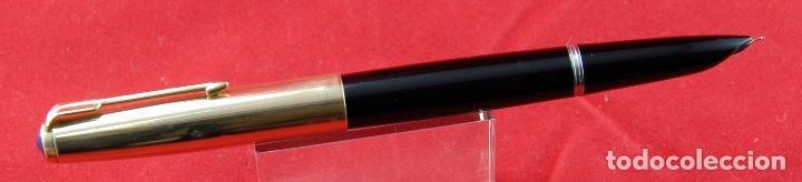 Plumas estilográficas antiguas: PARKER 51 NEGRA 1940.s-CAP ORO MADE IN USA PLUMÍN PARKER ORO 14 Kt PUNTA F -(5) - Foto 2 - 185741486
