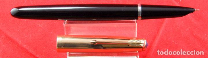 Plumas estilográficas antiguas: PARKER 51 NEGRA 1940.s-CAP ORO MADE IN USA PLUMÍN PARKER ORO 14 Kt PUNTA F -(5) - Foto 8 - 185741486
