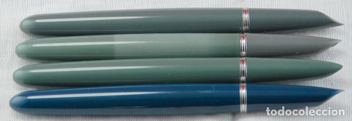 Plumas estilográficas antiguas: PARKER 51 NEGRA 1940.s-CAP ORO MADE IN USA PLUMÍN PARKER ORO 14 Kt PUNTA F -(5) - Foto 9 - 185741486