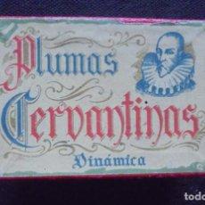 Plumas estilográficas antiguas: VINTAGE CAJA PLUMAS CERVANTINAS CON CONTENIDO. Lote 185988172