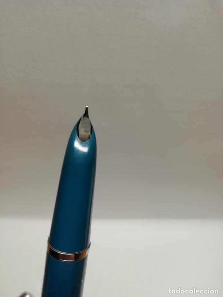 Plumas estilográficas antiguas: Parker 21 azul turquesa - Foto 4 - 186352702