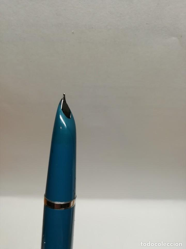 Plumas estilográficas antiguas: Parker 21 azul turquesa - Foto 5 - 186352702
