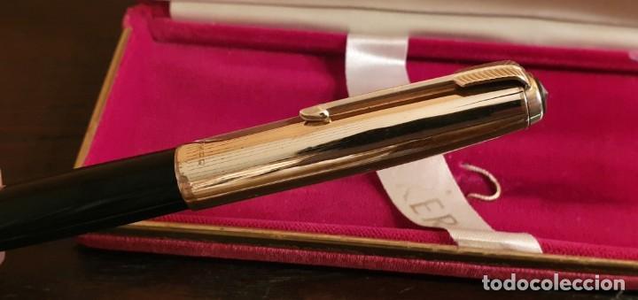 Plumas estilográficas antiguas: PLUMA PARKER 51 ORO - Foto 3 - 187228743