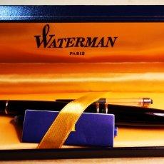 Plumas estilográficas antiguas: WATERMAN PLUMA ESTILOGRAFICA EXPERT NEGRA A ESTRENAR CON CAJA ORIGINAL. Lote 189600163