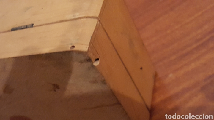 Plumas estilográficas antiguas: Caja vacia tinta china fix, de madera, en buen estado (23,5x9x6cm aprox) - Con sello franquista - Foto 5 - 190153296