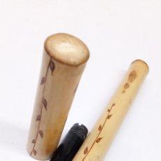 Stylos-plume anciens: PLUMA CUERPO BAMBU NATURAL. Lote 190516560