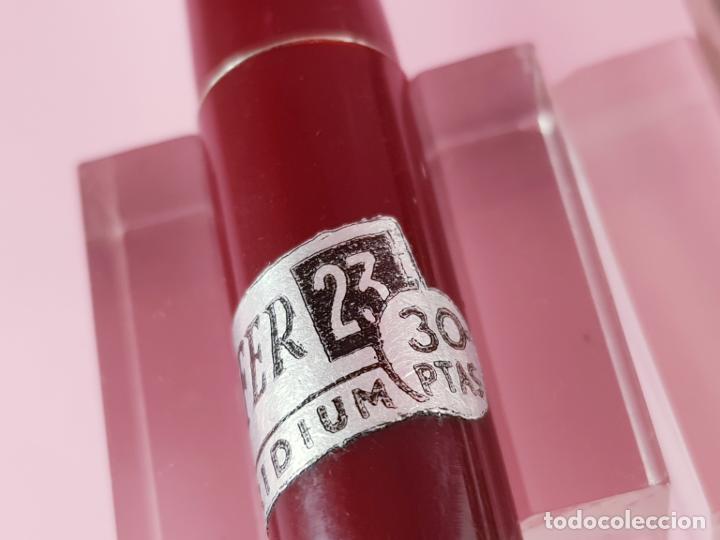 Plumas estilográficas antiguas: 189/PLUMA ESTILOGRÁFICA-SOFFER 23-BURDEOS+CROMO-FUNCIONANDO-VER FOTOS - Foto 9 - 190590686