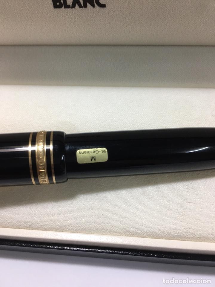 Plumas estilográficas antiguas: Reloj Montblanc Meisterstuck 149 plumin oro 18 kl escritura M adornos oro nueva - Foto 2 - 190866535