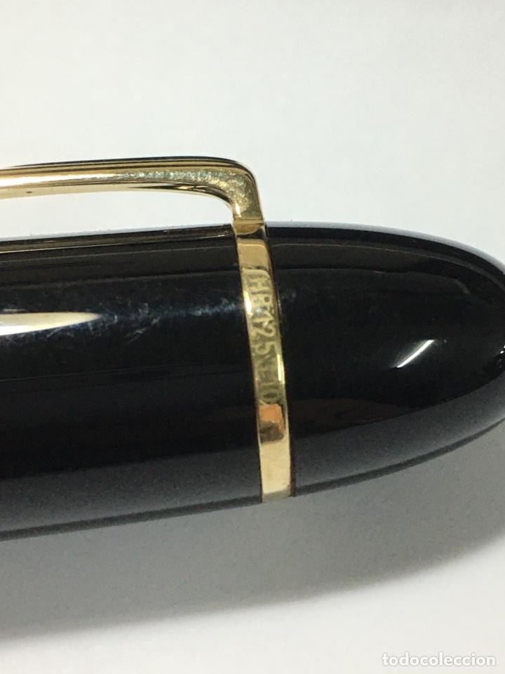 Plumas estilográficas antiguas: Reloj Montblanc Meisterstuck 149 plumin oro 18 kl escritura M adornos oro nueva - Foto 3 - 190866535