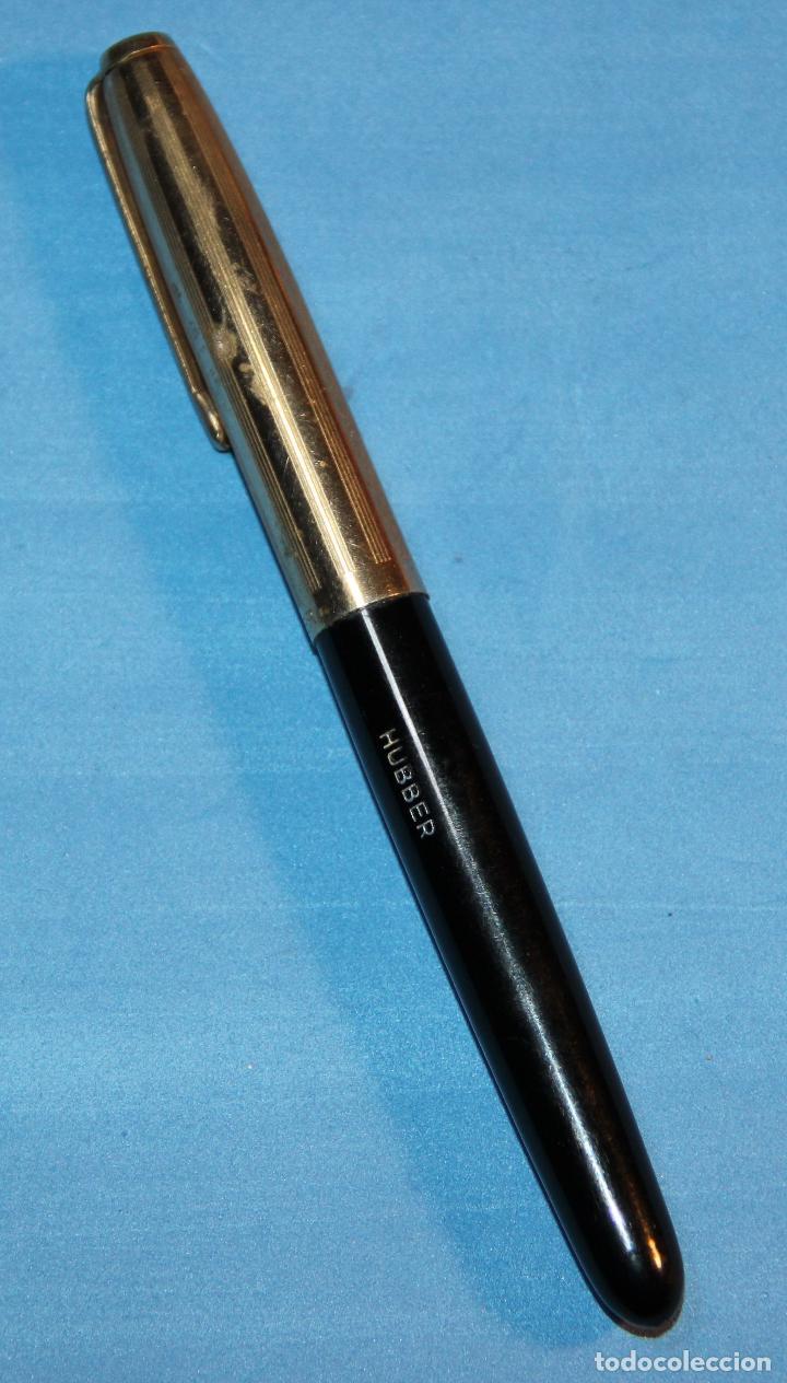 Plumas estilográficas antiguas: ANTIGUA PLUMA ESTILOGRAFICA ESPAÑOLA HUBBER - Foto 2 - 191504258